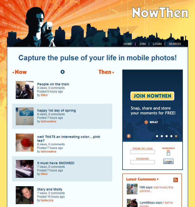 NowThen - Home Page