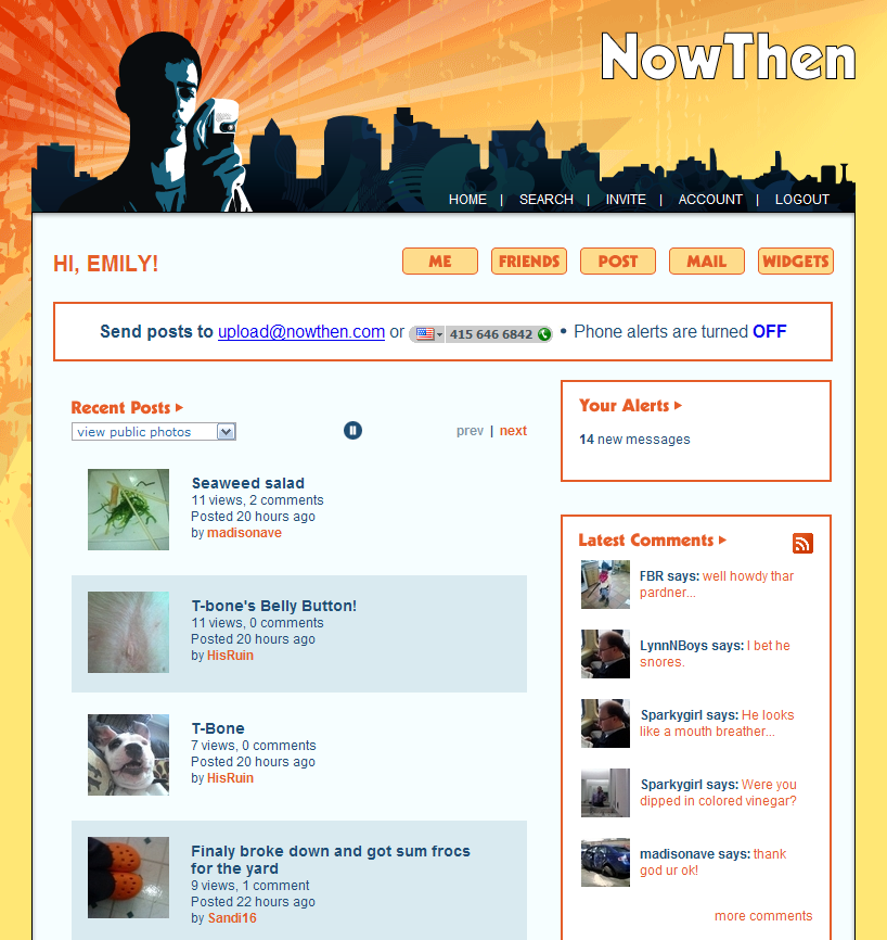 NowThen - Welcome Screen